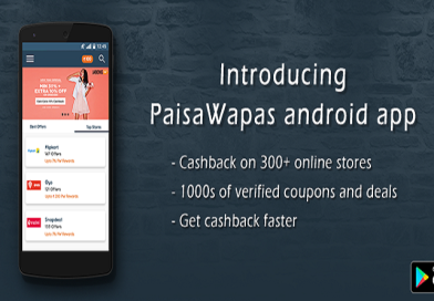Cashback & Deal Discovery platform PaisaWapas is now available on App